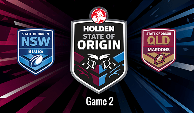 state of origin game 2 live